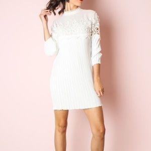 Dresses & Skirts - PLEATED DRESS- WHITE | WHITE DRESS | PLEATED DRESS